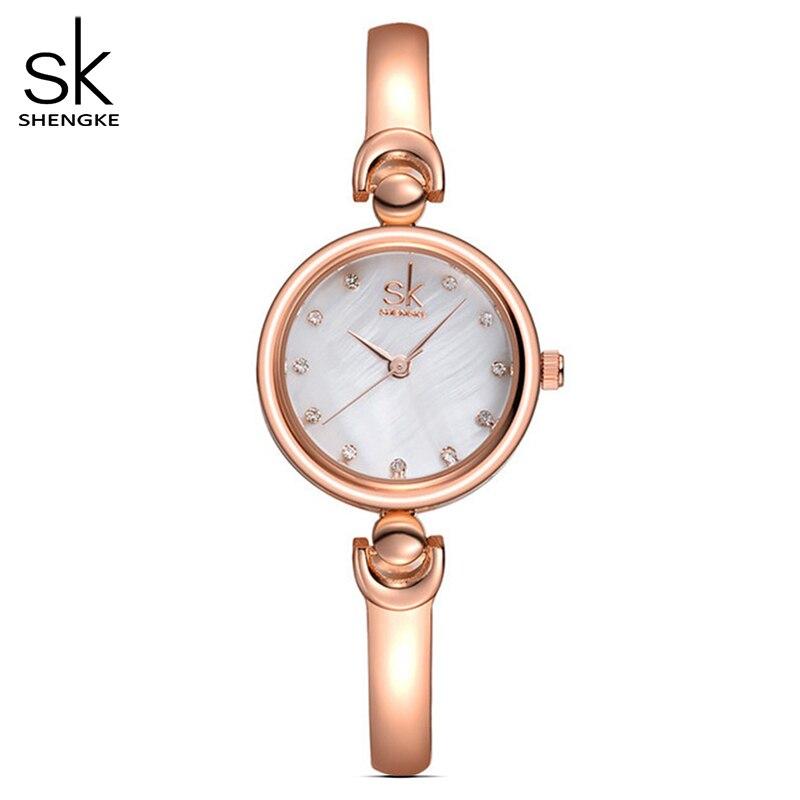 Shengke Reloj Mujer Fashion Bracelet Wristwatches Brand Female Geneva Quartz Watch Female Luxury Clock Relogio Feminino 2017 SK