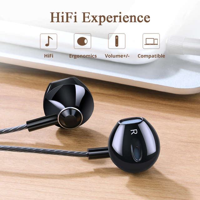 Langsdom Metal Earphone Headphones with Mic 3.5MM Wired Stereo Headset Hifi In Ear Earphones for Phone Xiaomi fone de ouvido