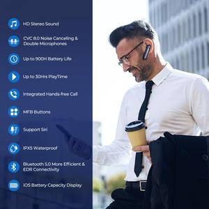 Image 5 - Mpow em17 무선 이어폰 블루투스 4.2 이어폰 bussiness 스마트 폰용 듀얼 마이크 handsfree 프리가있는 15hrs 음악 시간 이어폰