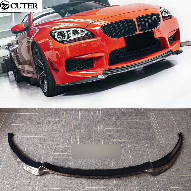 F06 F12 M6 V style carbon fiber front bumper lip car front lip spoiler for BMW 6series f06 f12 f13 m6 2014UP image