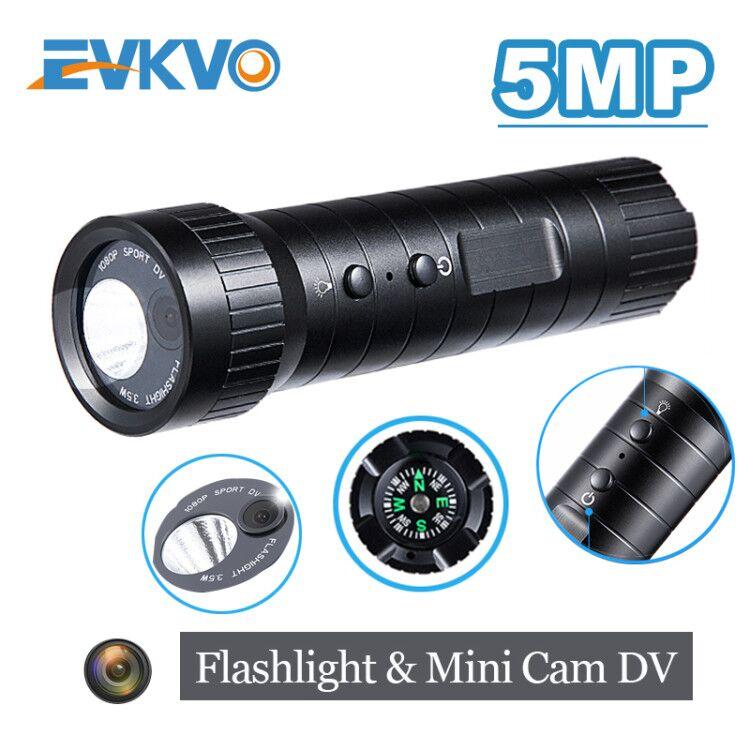 Mini caméra d'action caméra 5MP mini sport caméra casque Hd grand Angle mouvement DV caméra étanche lampe de poche enregistrement en boucle