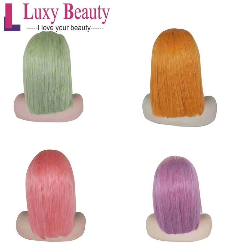 LuxyBeauty Density Lace Front Bob Wig 13
