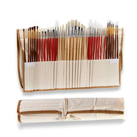 38 pinceaux Ensemble de pinceaux de peinture aquarelle / brosse de peinture de cheveux en nylon 4