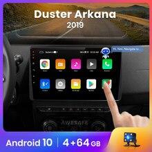 AWESAFE-reproductor Multimedia con Android 2019 y GPS para protector antipolvo para Renault, autorradio 1 din con reproductor de vídeo, 2GB + 32GB, para Arkana 10,0, PX9