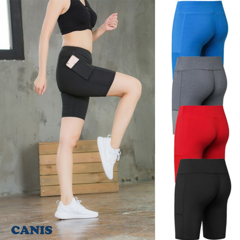 Women Sport Stretch Biker Shorts Workout Spandex Short