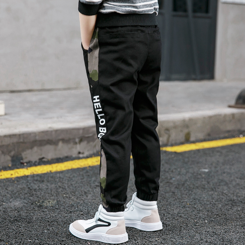 Pants for Boys Spliced Beam Foot Trousers Cotton Casual Sports Pants Clothes for Teenagers Boys 8 10 12 14 16 Years Spring 2021 6