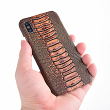 For Nokia 1 Plus 2 3 4 5 6 7 Plus X6 Leather Shockproof Ostrich Foot Phone Cases Case For 8 Sirocco 6.1 Plus Cellphone Caser langsidi genuine leather crocodile back cover for nokia lumia 950 xl 950 7 plus 6 x6 shockproof phone case for nokia 8 sirocco