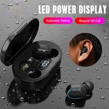 E7S TWS אלחוטי אוזניות Bluetooth אוזניות רעש ביטול עמיד למים LED תצוגת מסך ב אוזן אוזניות 3D סטריאו אוזניות