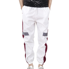 Trousers Loose Men Harem Pants Sportwear Casual Fashion Black White Pa