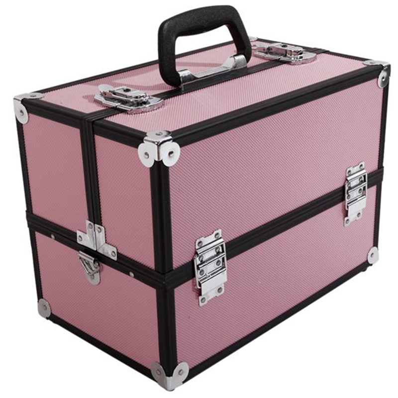 Aluminum Alloy Professional Cosmetic Bag Suitcases Makeup Case Jewelry Box Organizer Manicure Cosmetology Case Large Capacity