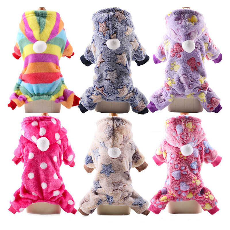 XS-2XL mono de lana suave para perros invierno cálido ropa para perro pequeña abrigo para cachorros trajes para mascotas con capucha para perros ropa para mascotas para yorkkie Pug