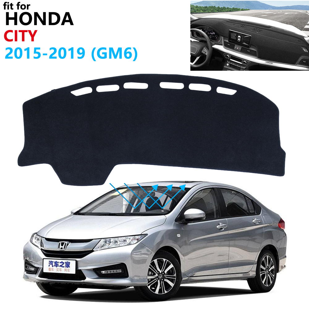 Dashboard Cover Protective Pad For Honda City 2015~2019 Car Accessories Dash Board Sunshade Anti-UV Carpet GM6 2016 2017 2018