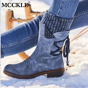 MCCKLE Women's Mid Calf Boots