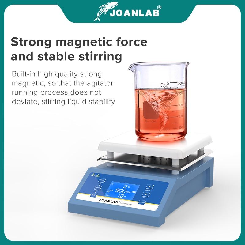 JOANLAB Heating Magnetic Stirrer Hot Plate Lab Stirrer Digital Display Magnetic Mixer Lab Equipment 1L 3L 5L 220v With Stir Bar 4
