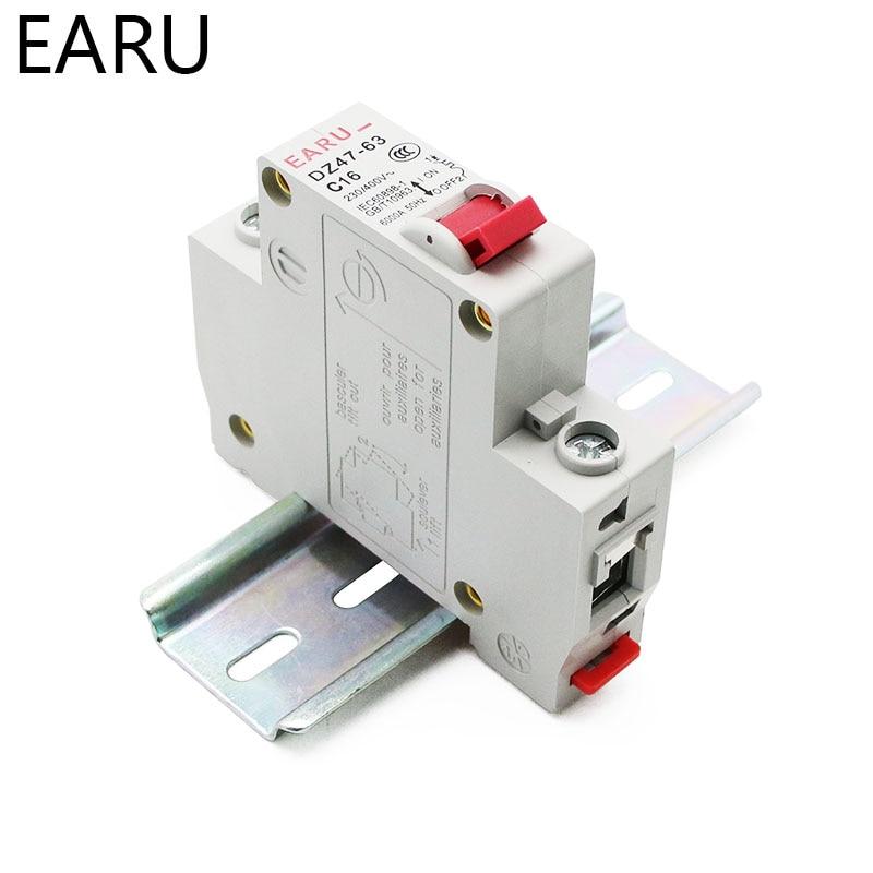 He8a184ab5aad4d1a9380ee07d5446177G - DZ47 1-4 Pole 3A/6A/10A/16A/20A/32A/40A/50A/63A 400V C Type Mini Circuit Breaker MCB 35mm Din Rail Mount Breaking Capacity 6KA