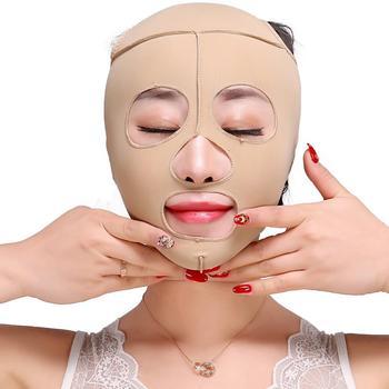 Elastyczny odchudzanie V kształt maska na twarz zmarszczki podwójny podbródek masażer do twarzy do wyszczuplania twarzy maska bandaż wyszczuplający skóra opieka zdrowotna 40 #804 tanie i dobre opinie SUNAMCOME Brak elektryczne Żywica Face-lifting Tool Maszyna wykonana V Shape Mask about 34g Free shipping Fast Delivery