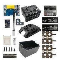 BL1890 akumulator litowo jonowy obudowa baterii pudełko ładowania PCB płyta ochronna powłoki BL1830 BL1860 do MAKITA 18V 6Ah 9.0Ah LED wskaźnik poziomu baterii w Akcesoria do elektronarzędzi od Narzędzia na