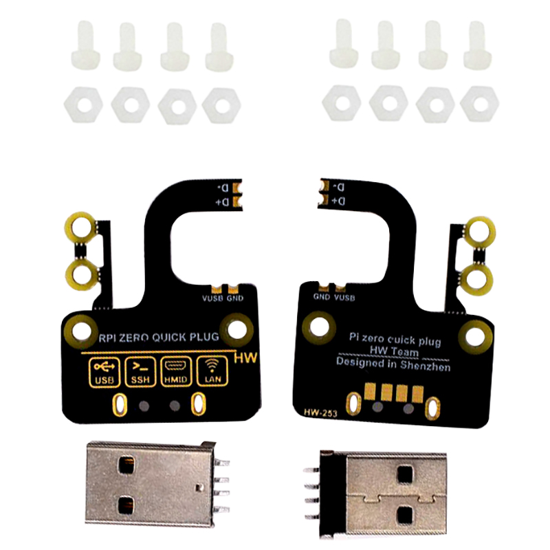 2Pcs Micro-Usb To Type A Usb Adapter Board Expansion Board Usb Power Supply For Raspberry Pi Zero V1.3/ Zero W Ethernet Quick Pl