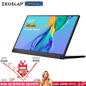 Image 2 - ZEUSLAP thin portable lcd hd monitor 15.6 usb type c hdmi for laptop,phone,xbox,switch and ps4 portable lcd gaming monitor