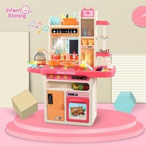 Детские блестящие кухонные игрушки 100 см/39 дюймов в высоту, большая игрушка> 3 года, многофункциональная имитация, Кухонные Игрушки для мальч...