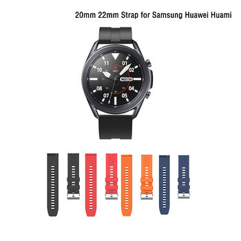 20mm 22mm Soft Silicone Watch Strap Band for Samsung Galaxy S3 Watch Active band for Galaxy Watch 46mm for Huami Watch GT image