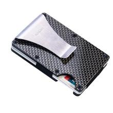 Wallet Credit-Card-Holder Metal Carbon-Fiber RFID And Non-Scanning Men's Fashionable