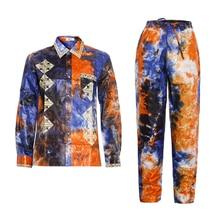Md Afrikaanse Mannen Kleding Lange Mouwen Tops Broek Pak Traditionele Afrikaanse Mannen Kleding Zuid afrika Bazin Riche Dashiki Shirt KC47