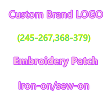 LOGO custom embroidery patch for Clothing Embroidery Stripes on Clothes Brand Appliques