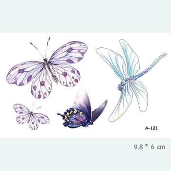 Wyuen Bird Temporary Tattoo for Adult  Waterproof Tatoo Stickers Body Art Beautiful 3D Butterfly Fake Tattoo for Women A-078 5