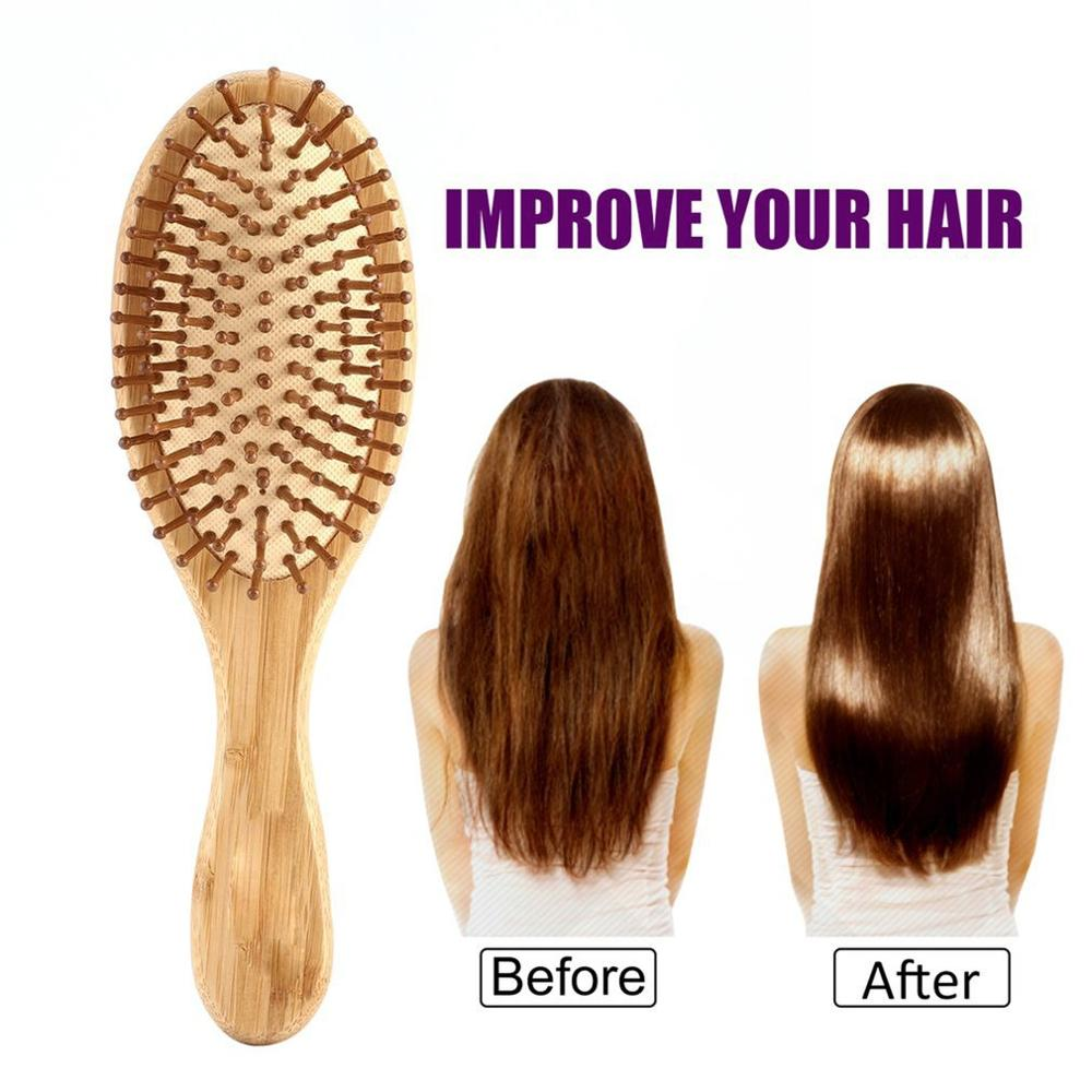 High Quality Hair Comb Bamboo Airbag Massage Comb Carbonized Solid Wood Bamboo Cushion Anti-static Hair Brush Combs Travel Home