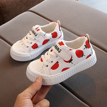 Buy 2019 Autumn New Children Lovely Strawberry Pineapple Baotou Study Walking Shoes Kids Shoes Baby Skate Leather Shoes directly from merchant!