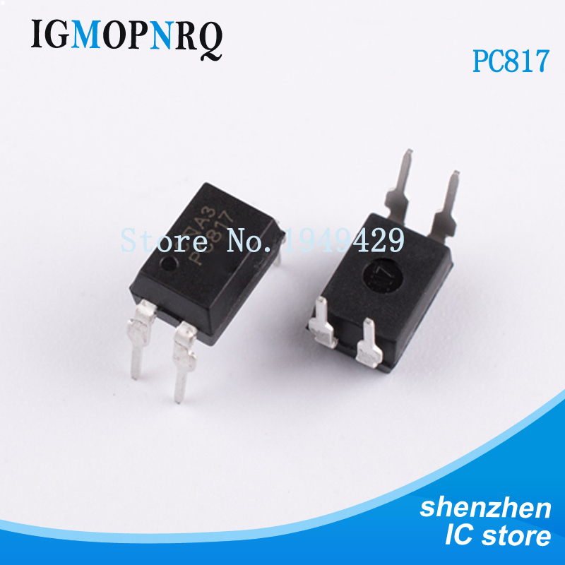 50PCS PC817B DIP4 PC817-B PC817 B Transistor Output Optocouplers Photocoupler DC Input 80V 50mA New Original