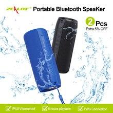ZEALOT S51 Tragbare Bluetooth Lautsprecher Im Freien 10W TWS Verbindung Hohe Qualität Sound IPX5 Wasserdichte 8 stunden verwenden zeit Lautsprecher