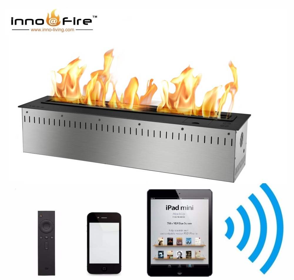 Inno Living Fire 72 Inch Intelligent Smart Ethanol Remote Fire Place Bio Fireplaces