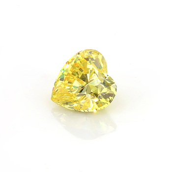 1.3 carats Yellow Color Heart Shape Loose HPHT Lab Grown Diamond