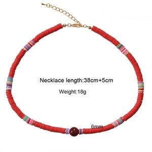 Красочные бусы ожерелье Женская мода Девушка Ожерелье Лето Пляж серфинга ювелирные изделия