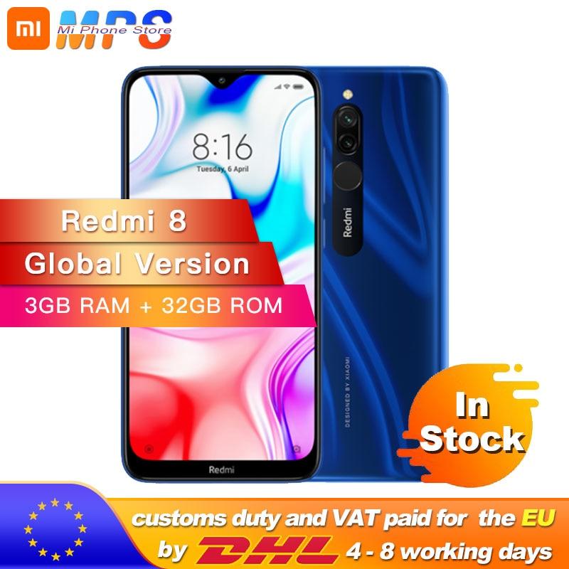 Global Version Xiaomi Redmi 8 3GB 32GB Snapdragon 439 Octa Core 12MP Dual Camera Mobile Phone 5000mAh