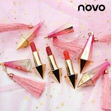 NOVO Fashion Diamond Brighten Matte Lipstick Nude Waterproof Long-Lasting lips t