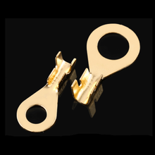 10pcs 20pcs M3 Ring o connection Grounding Copper Cold Pressed Terminal Pure Copper Gold Plated GND Connector