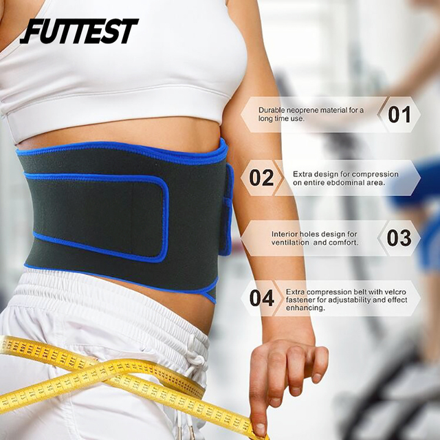 Futtest Adjustable Breathable Waist Fitness Training Belt Waist Support For Sports Trimmer Belt Sweat Utility Belt Custom 2