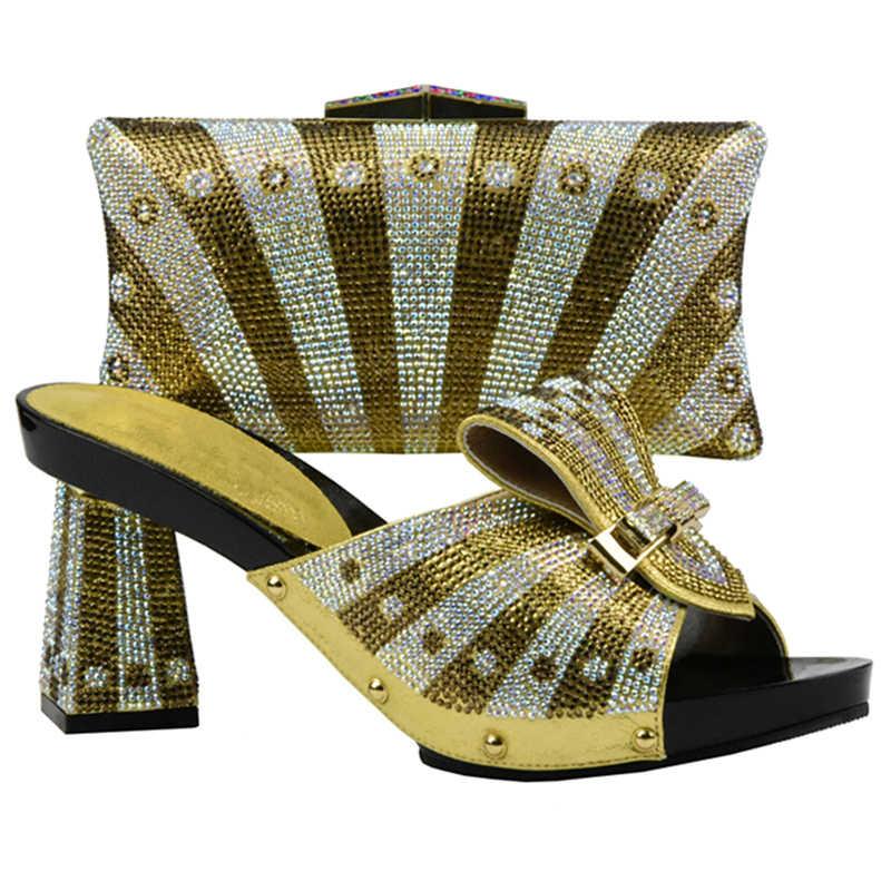New Arrival ostatnie afryki buty i torby ustawia włoskim nigerii buty i dopasowanie torby włoski panie kobiety buty i torba zestawy