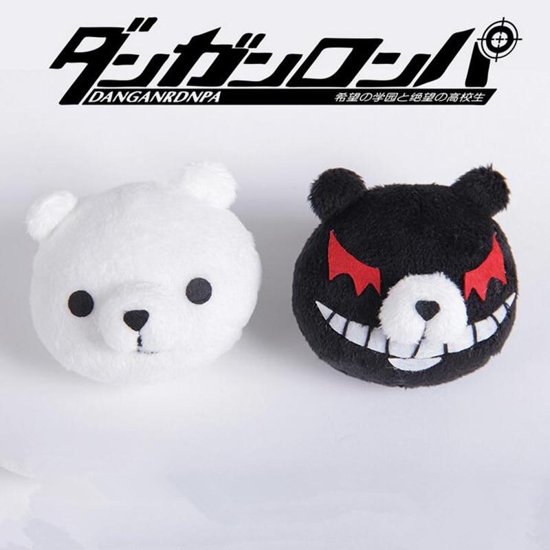 Anime Dangan Ronpa Danganronpa Hair Clip Junko Enoshima Mono Kuma Mono White Black Bear Cosplay Headwear Girl Gift