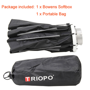 Image 5 - Triopo 90cm Photo Bowens Mount Portable Outdoor Octagon Umbrella Soft Box with Carrying Bag for Studio Video Photography Softbox