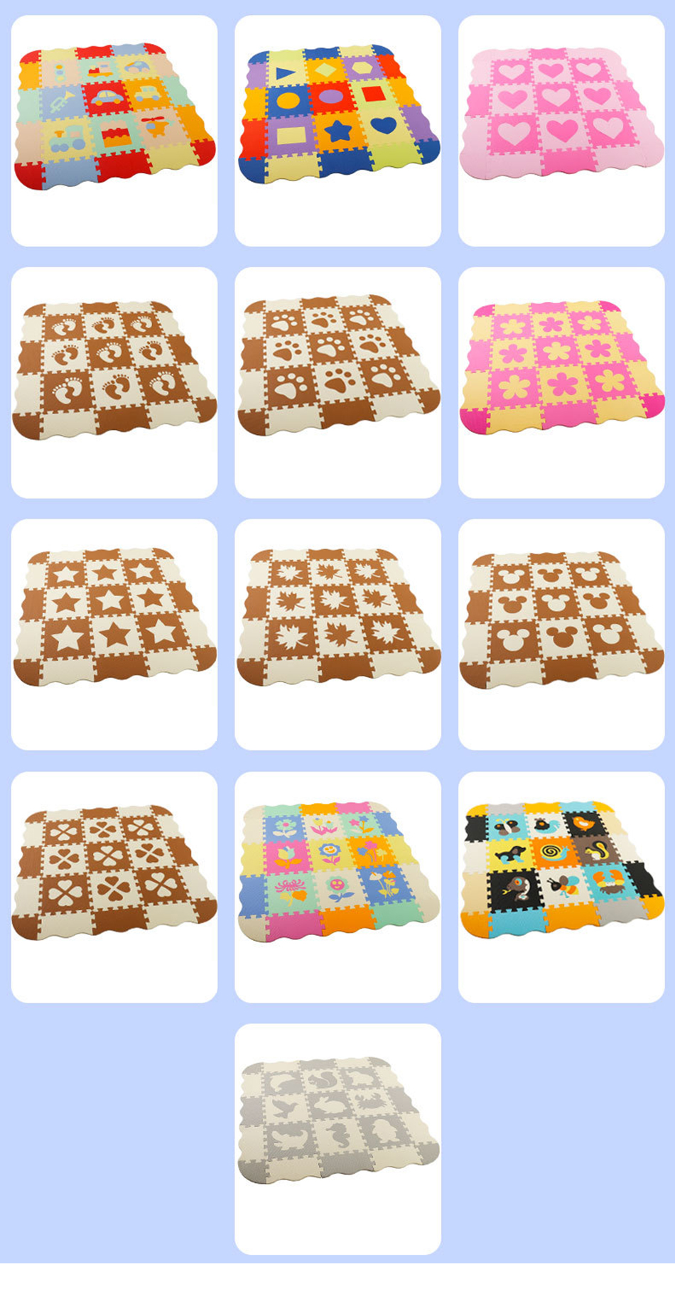 He8a2d55413a6494b80b19b23efebe52e2 25Pcs Kids Toys EVA Children's mat Foam Carpets Soft Floor Mat Puzzle Baby Play Mat Floor Developing Crawling Rugs With Fence