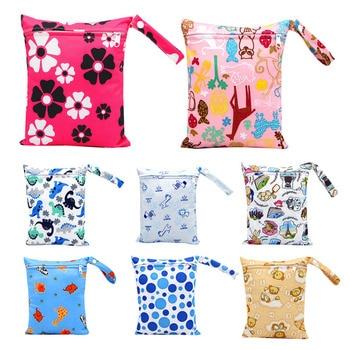 20*25cm Mini Diaper Wet Bag Single Pocket Zipper Baby Bags For Mom Maternity Travel Stroller Bag PUL Nappy Diaper Bag Wetbag