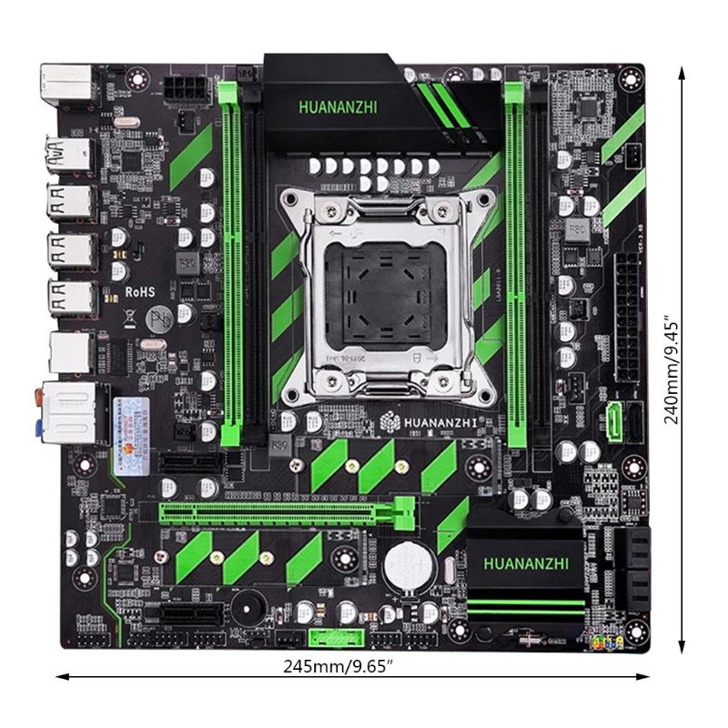 Huananzhi X79 Motherboard X79 LGA2011 ATX SATA3 USB 3,0 Dual PCI-E 16X NVME M.2 SSD Unterstützung REG ECC RAM Xeon e5 CPU