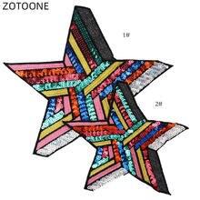 Zotoone вышитая нашивка с блестками звезда фотозвезда Большая