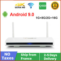 Caixa de smart tv qhdtv leadlegal, android 9.0, media player, 16gb, amlogic s905w, quad core, leadcool iptv, android
