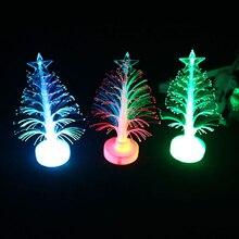 2020 НОВЫЙ 12см Рождество Светящийся Рождество Дерево Цвет Изменение Светодиод Ночь Свет Креатив Дом Украшение с Аккумулятором Освещение