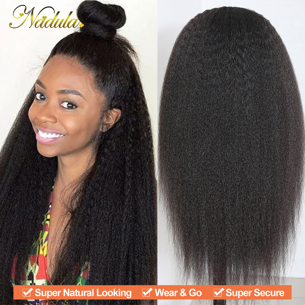 Nadula Hair U Part Wig  Kinky Straight Hair U Part Wig  Natural Color 100%  Wigs for Women 3
